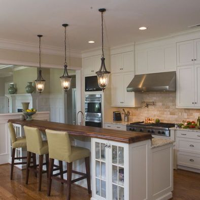Kitchen lights  Traditional Spaces Kitchen Lighting Design, Pictures, Remodel, Decor and Ideas  #Home #Interior #Exterior #Design #Decor ༺༺  ❤ ℭƘ ༻༻  IrvinehomeBlog.com