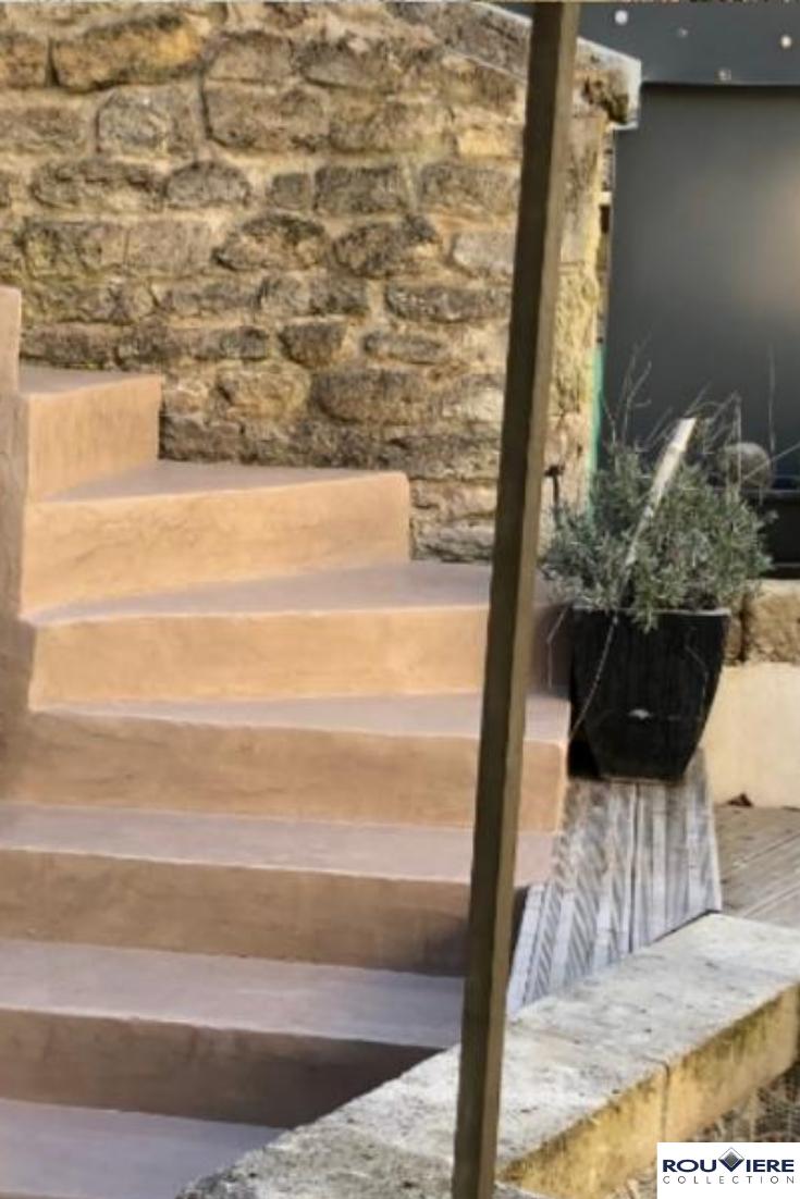 Coup De Jeune Pour Terrasses Et Plages De Piscine Avec Le Beton Cire Escalier Exterieur Beton Cire Escalier