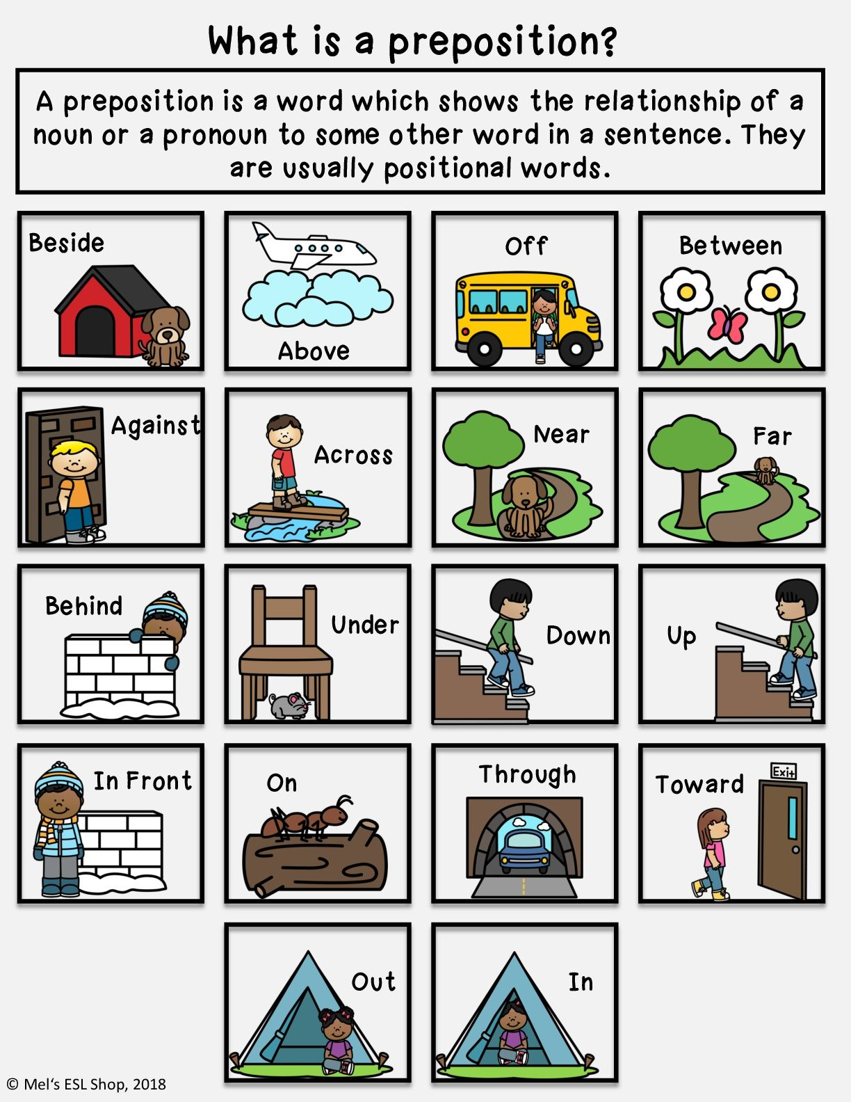 Ell Esl Prepositions