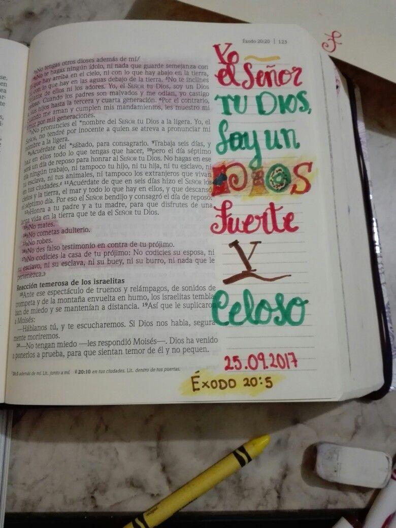 éxodo 20 5 Unsólodios Biblia De Apuntes Versículo De La Biblia Biblia