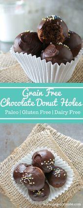 Grain Free Chocolate Donut Holes Paleo Crumbs Grain Free Chocolate Donut Holes Paleo Crumbs
