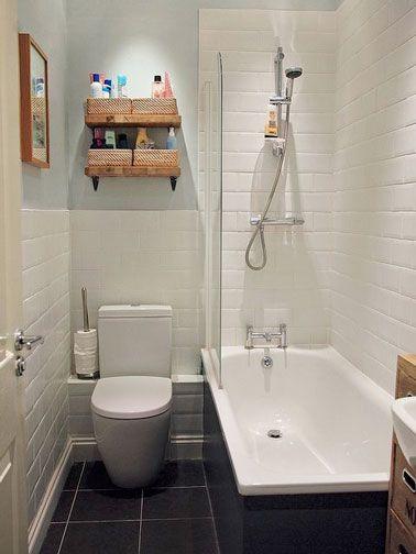 10 petites salles de bain pleines d\u0027astuces déco casa Pinterest