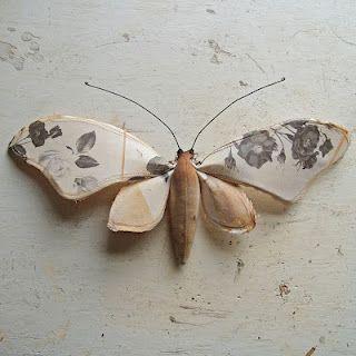 More lovely work from Mr Finch, #butterfly #fibreart #fiberart