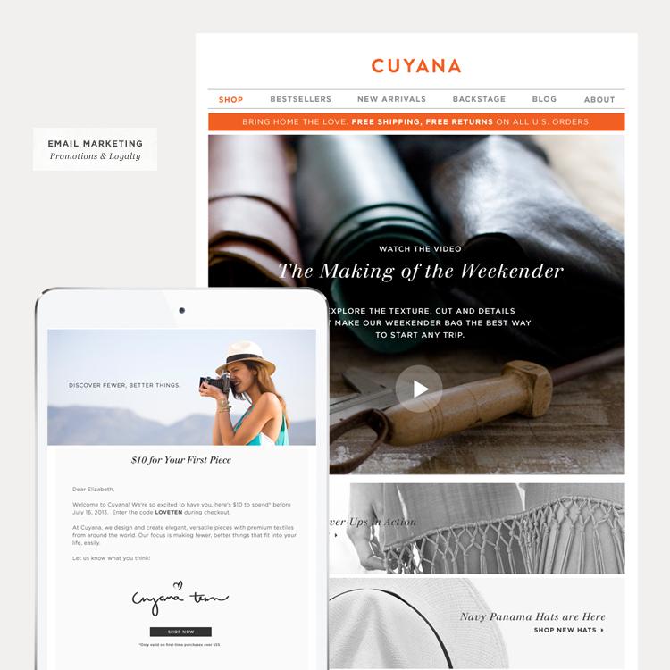 Recent Work: Cuyana Communications