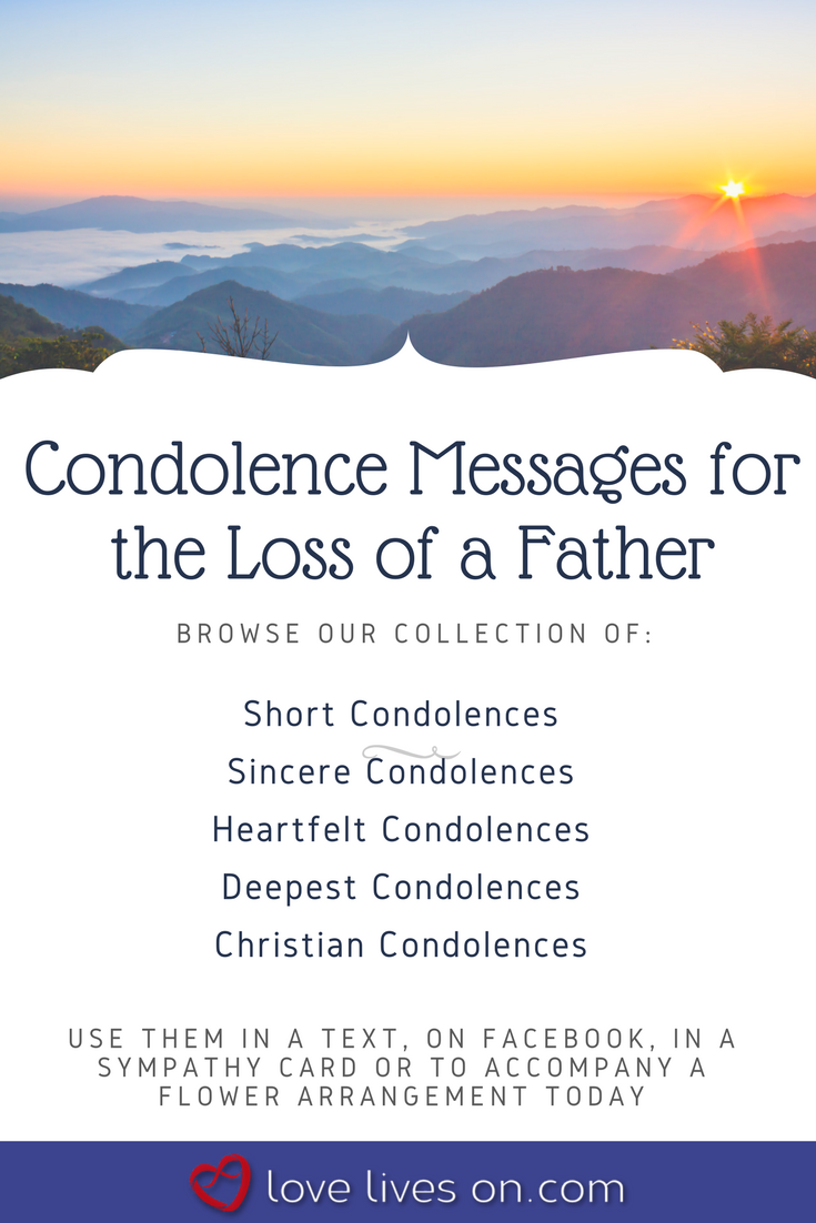 click to browse our collection of condolence messages for loss of father to use in a