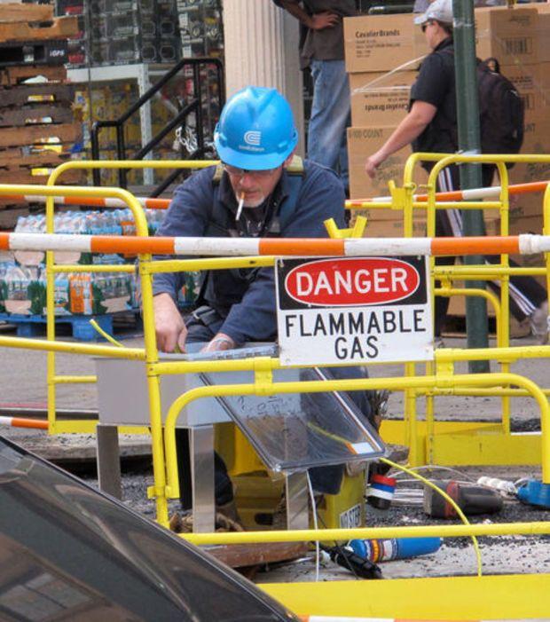 É como se não tivesse placa nenhuma indicando perigo!