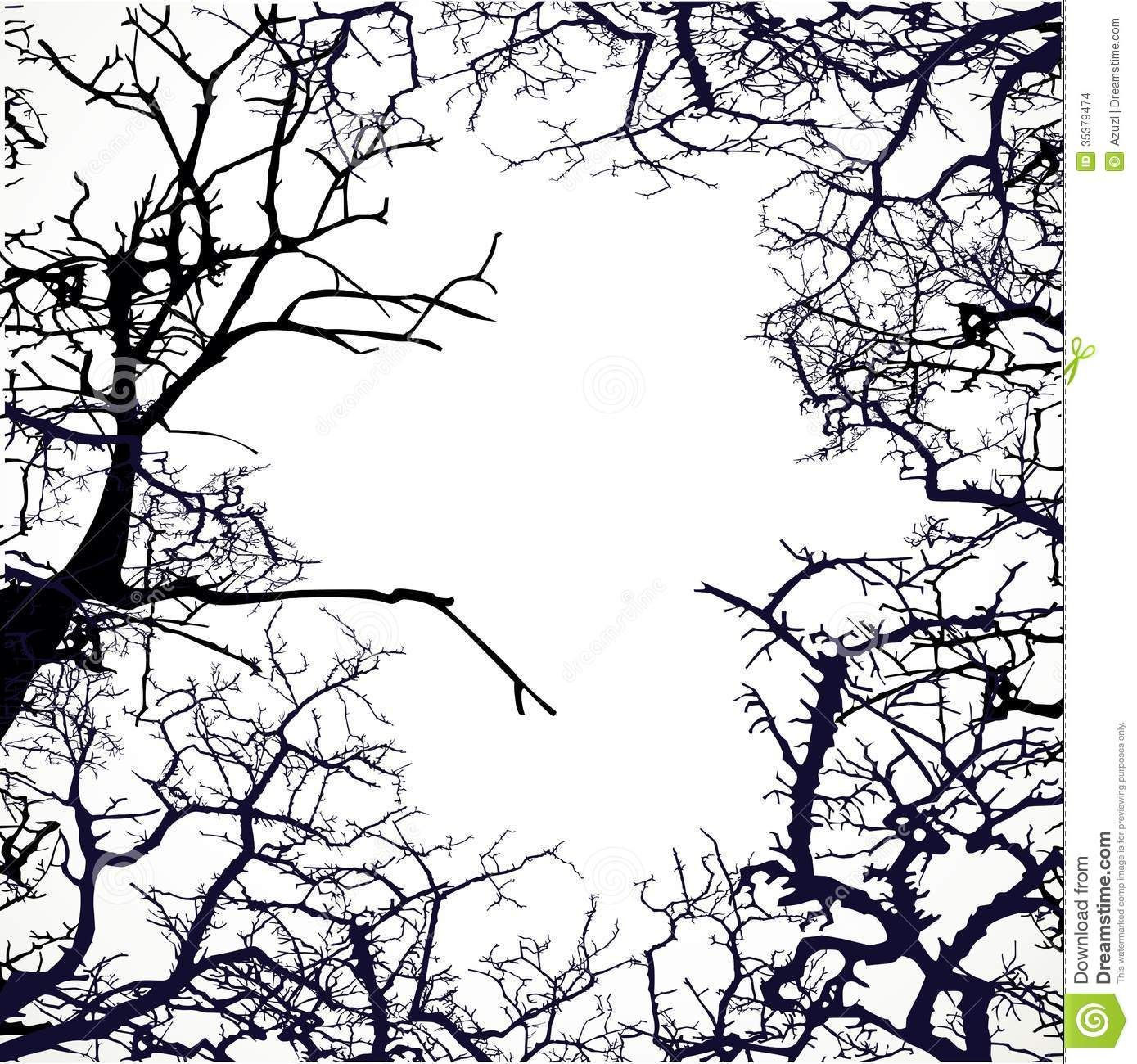 Download Wallpaper 2048x1152 Tree, Branches, Blackand