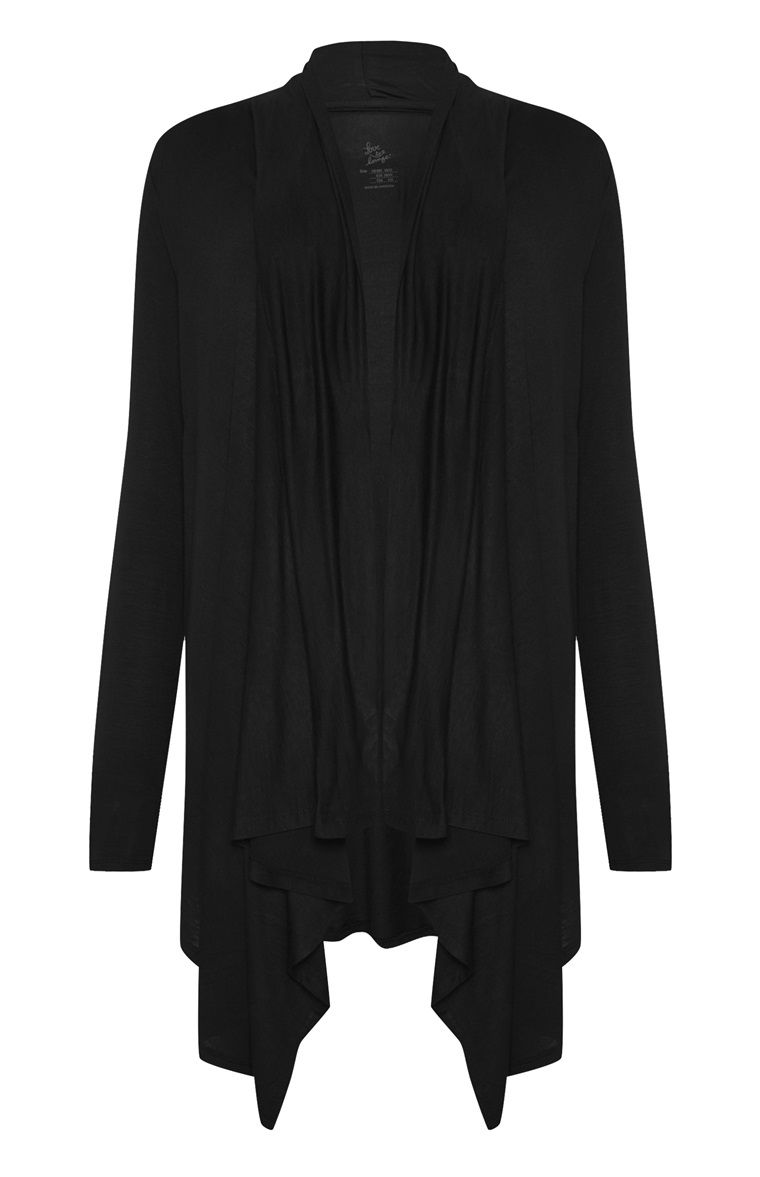 Primark - Black Waterfall Front Cardigan | Primark | Pinterest ...