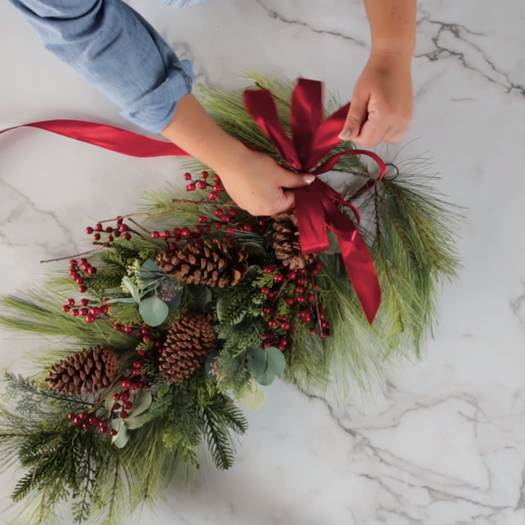 How to Make a Christmas Swag Wreath for Your Holid