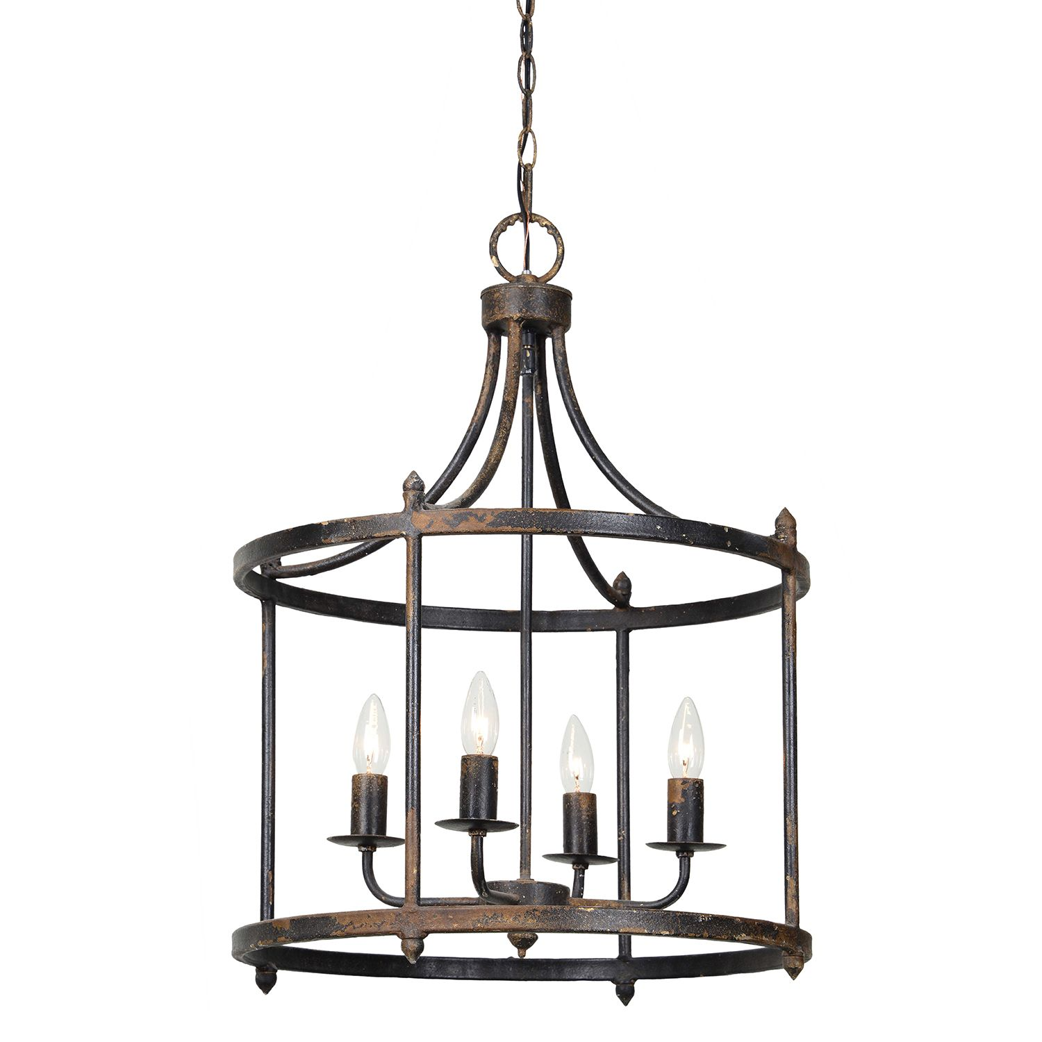 Forty West Arlington Rustic Black 28 Inch Four Light Chandelier Available At Springlights Umhlanga And Hil Lantern Chandelier Round Chandelier Metal Chandelier