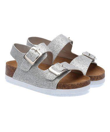 Silver Glitter  Rainey Sandal #zulily #zulilyfinds