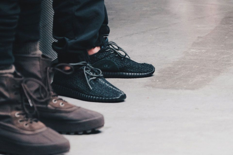 adidas Yeezy 350 Boost Pirate Black Sneaker Bar Detroit