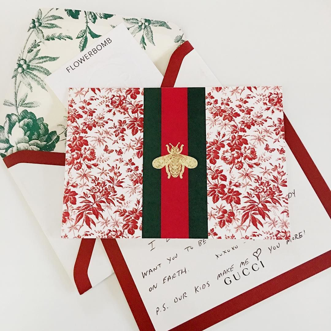 Birthday greeting gone gorgeous #holidaystyle #gucci #stationary ...