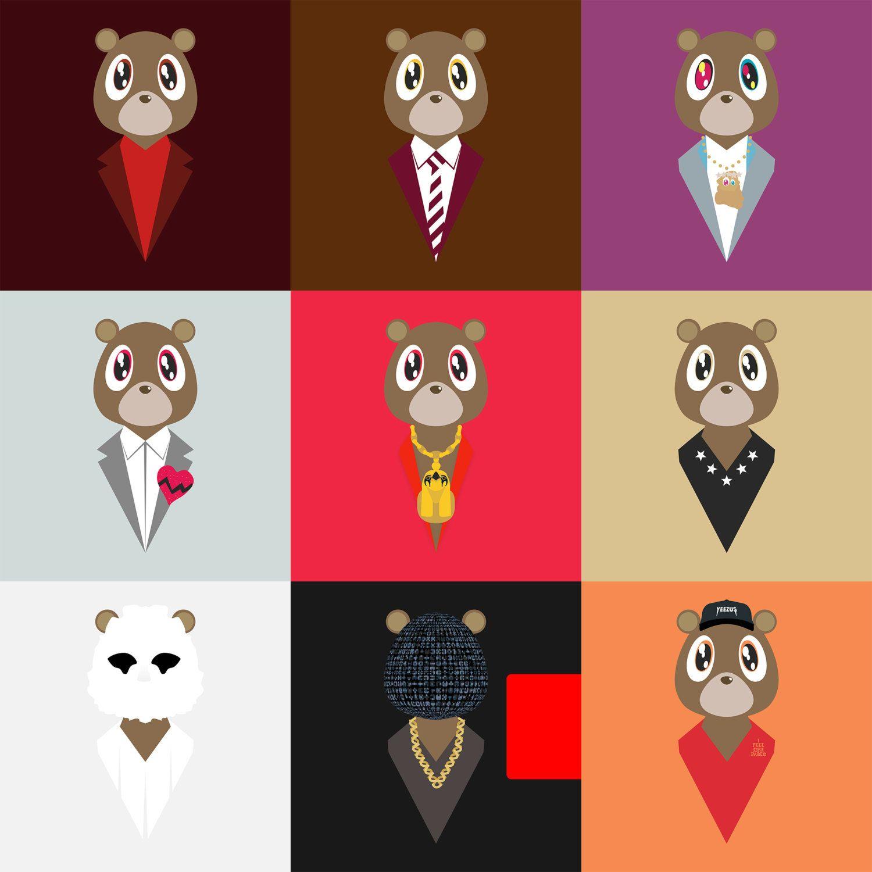 Late Registration Turns 11 Today Long Live The Ye Bear Hiphophedonist Kanye West Bear Hip Hop Artwork Kanye West Wallpaper