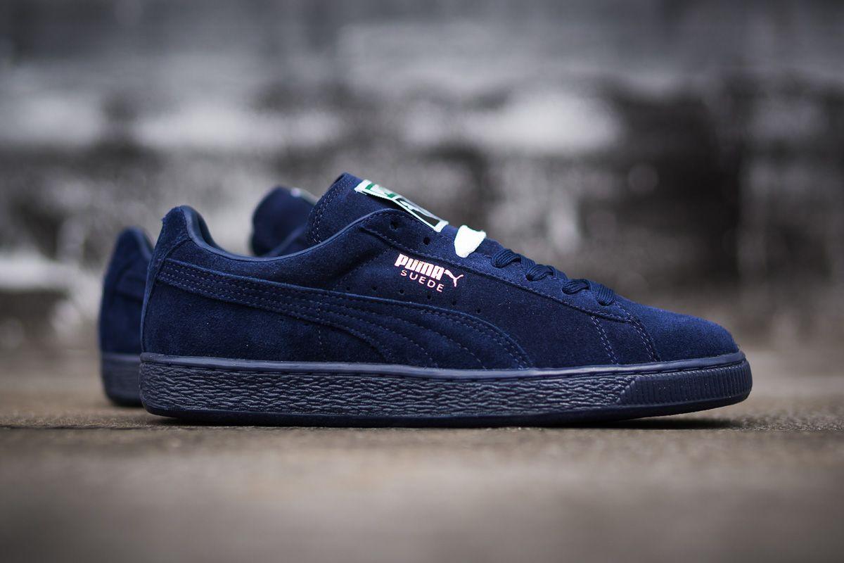 puma blue suede shoes