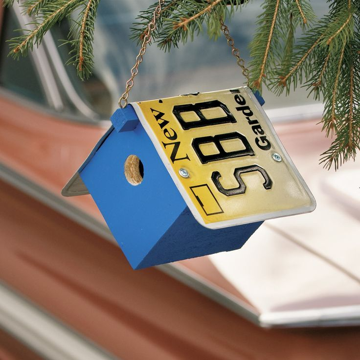 Build a License Plate Birdhouse. Do You Need A License For