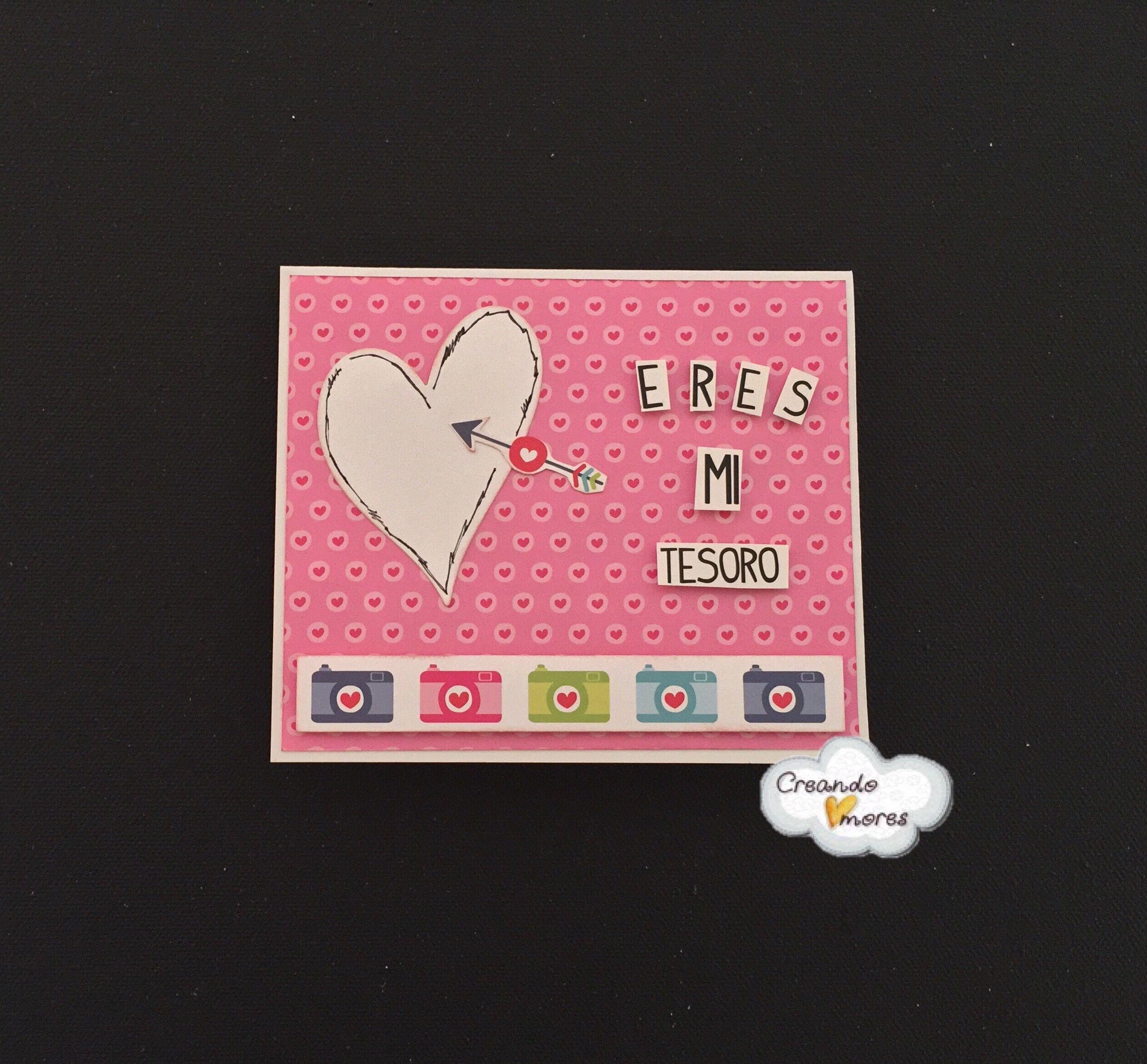"""#Tarjeta para celebrar """"San Valentín"""" #CreandoAmoresLive"""