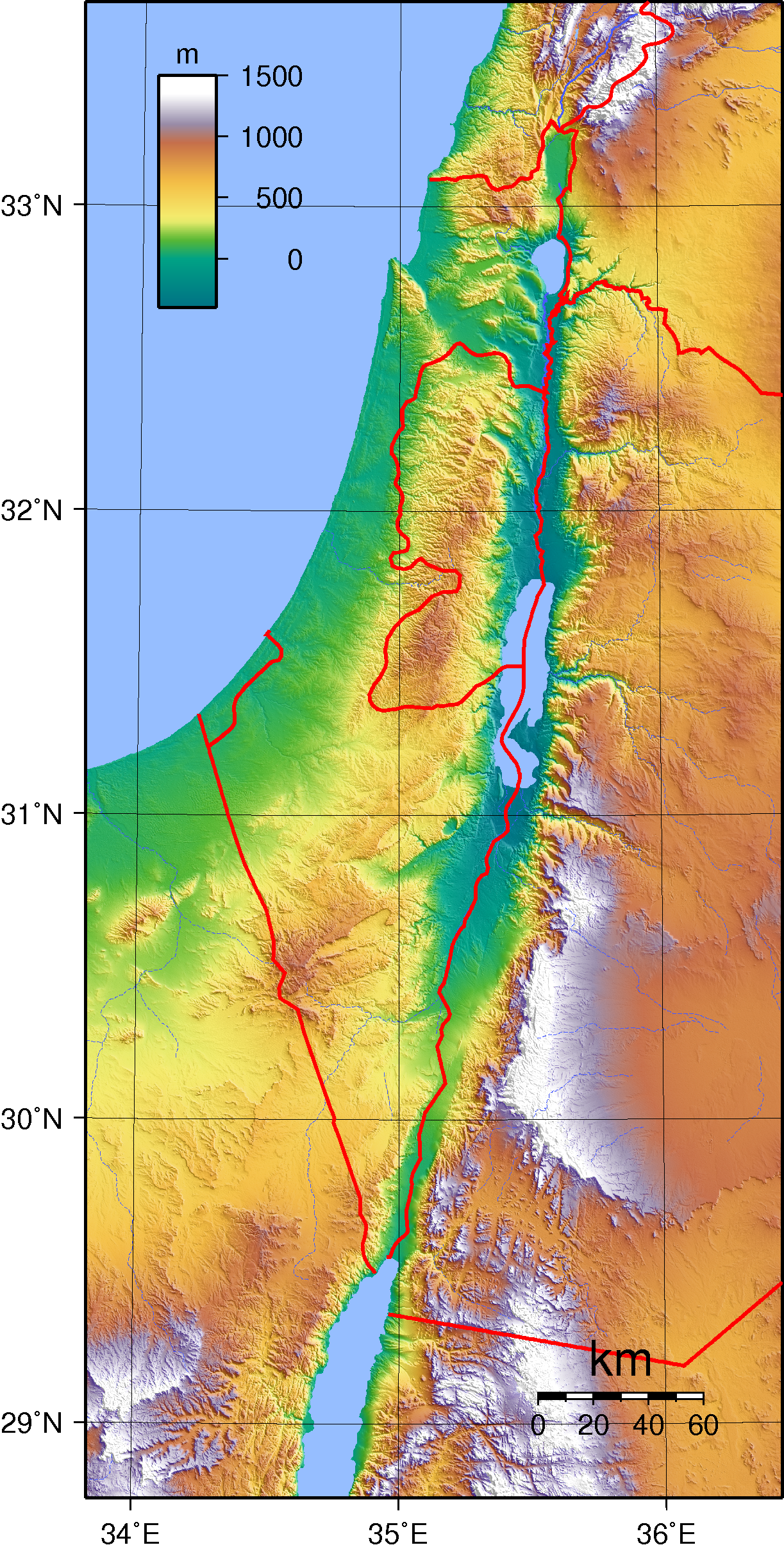Israel Topography File Israel Topography