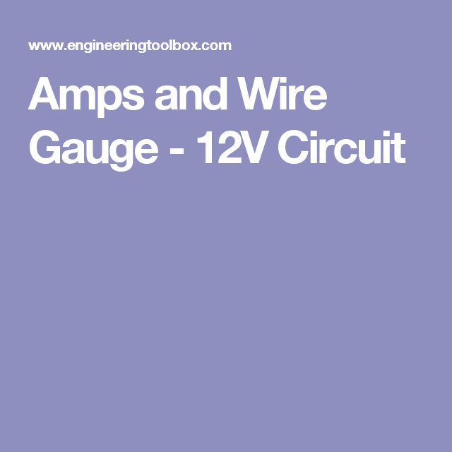 Amps and wire gauge 12v circuit workshop layout pinterest maximum current amps through a circuit related to size awg and length of wire greentooth Image collections