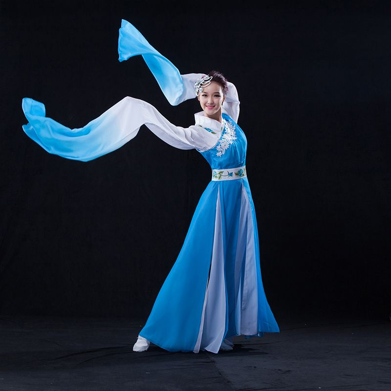 05c80c20a 2017 Rushed Disfraces Chinese Classical Dance Clothes Hanfu Ancient Costume  Fairy Set Long Sleeves Costumes Water Myth Festival -in Chinese Folk Dance  from ...