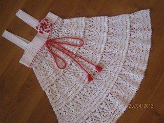 vestidos de crochet para bebe para bautizo - Buscar con Google