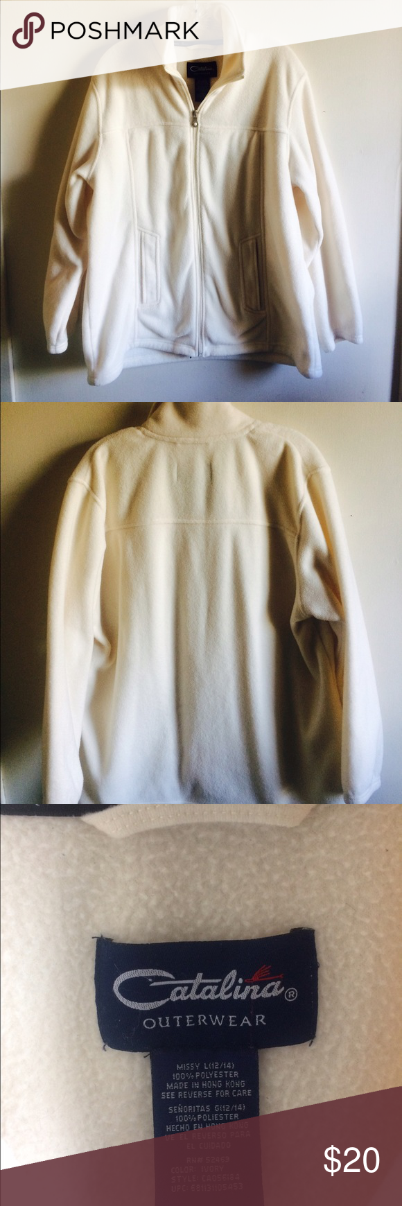Catalina Ivory Color Soft Cozy Fleece Jacket Szxl Cozy Fleece Jacket Fleece Jacket Ivory Color [ 1740 x 580 Pixel ]