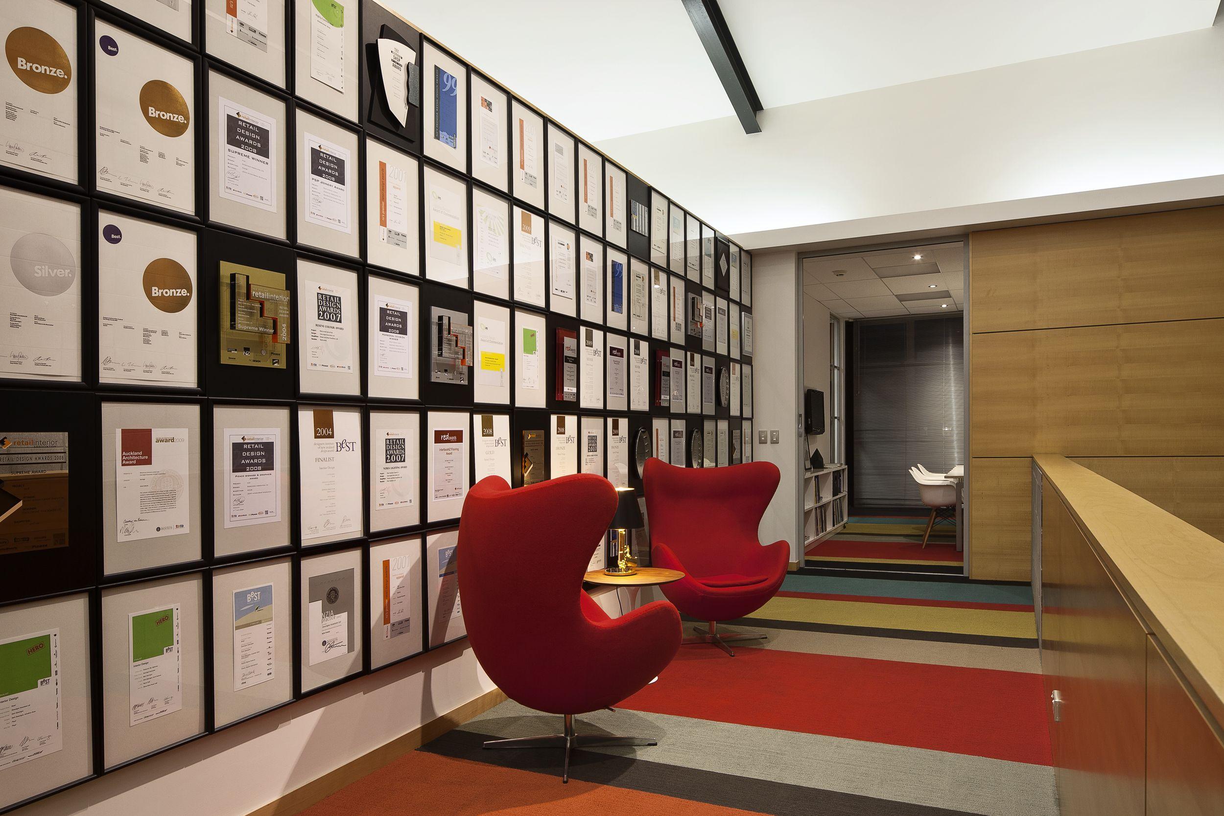 Best Design Awards Certificates On Display Display Wall Design Award Display Design Awards