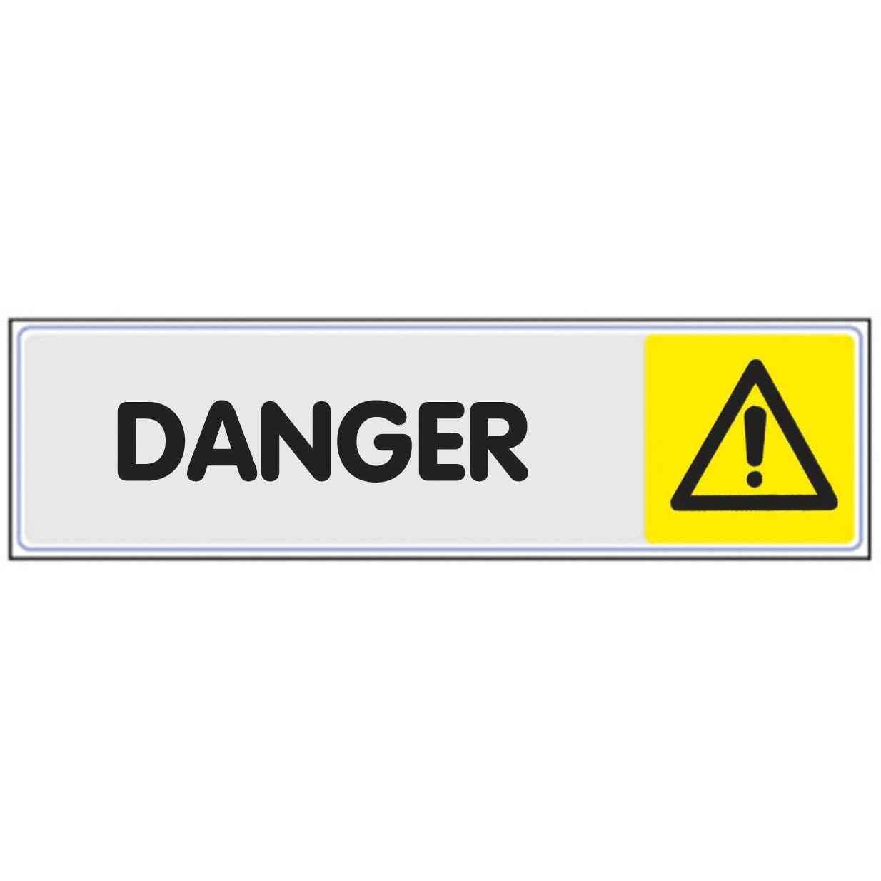 Plaque Danger En Plexiglass Novap Plexiglass
