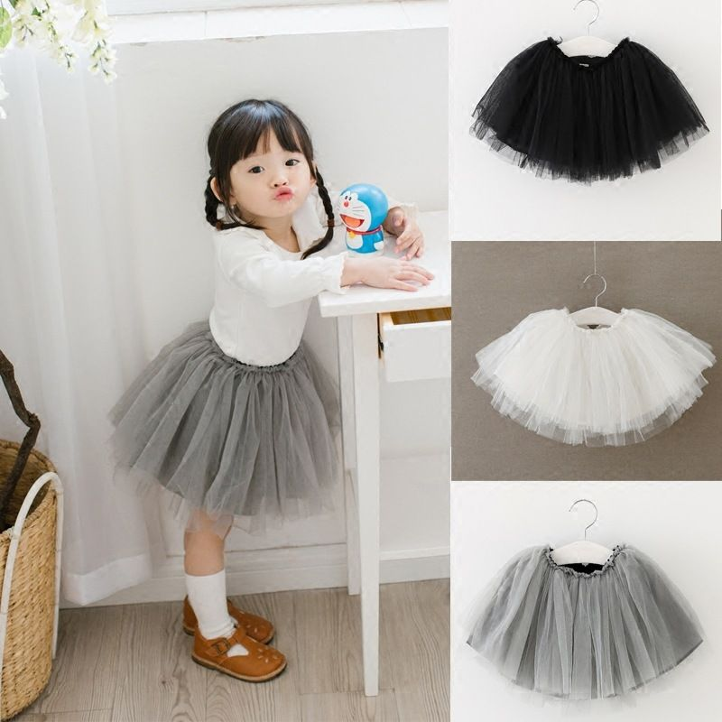 Smart Baby Girls Kid Solid Tutu Ballet Dance Skirts Fancy Party Skirt Mini Dress