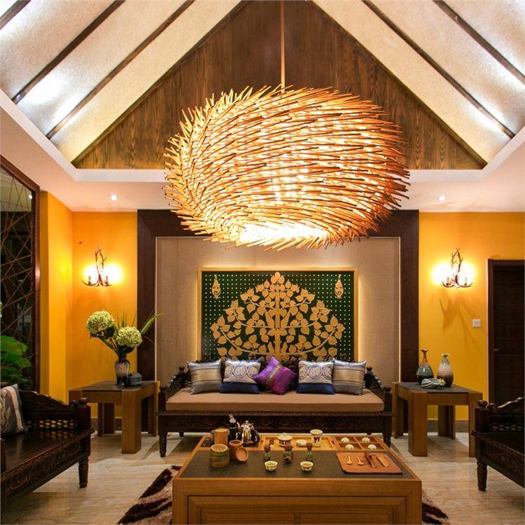 ペンダントライト 竹製照明器具 和風照明 天井照明 3灯 ペンダント