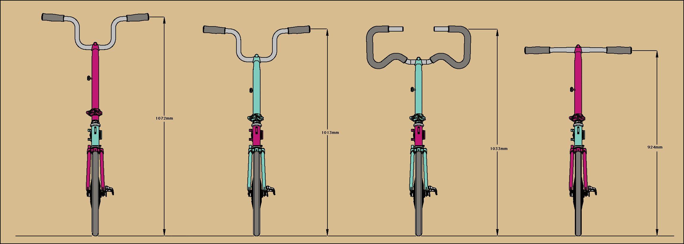 H Bar Comparison Front Jpg 2 300 820 Pixels Beautiful Bike