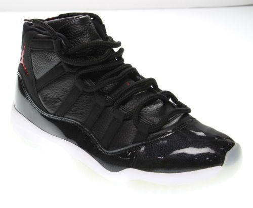 becb0187c  Men  Shoes Men s AIR JORDAN 11 Retro Black White Genuine Leather Athletic  Shoes Size