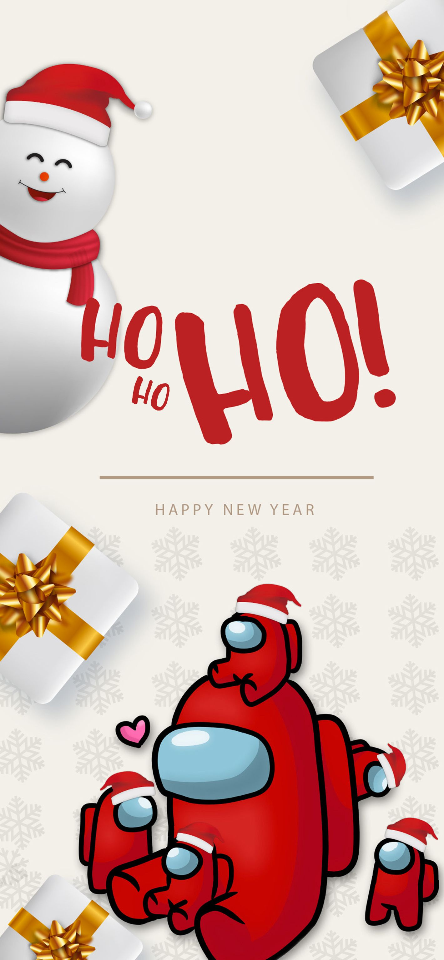 Among Us Christmas Happy New Year In 2021 Winter Wallpaper Happy New Year Happy New