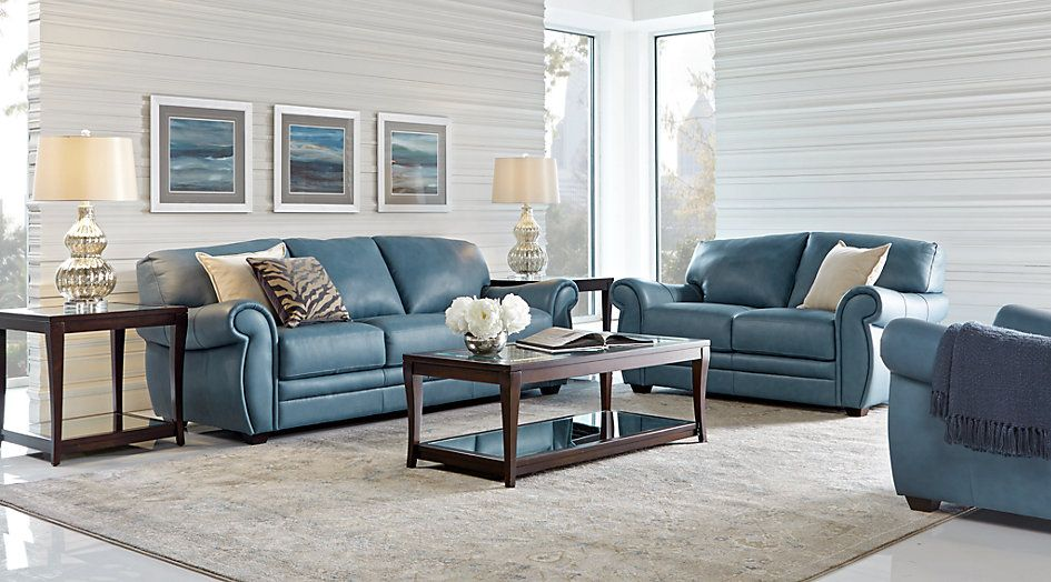 Blue Leather Living Room Sets Furniture Set In Ghana Martello 5 Pc Home Decor Pinterest From