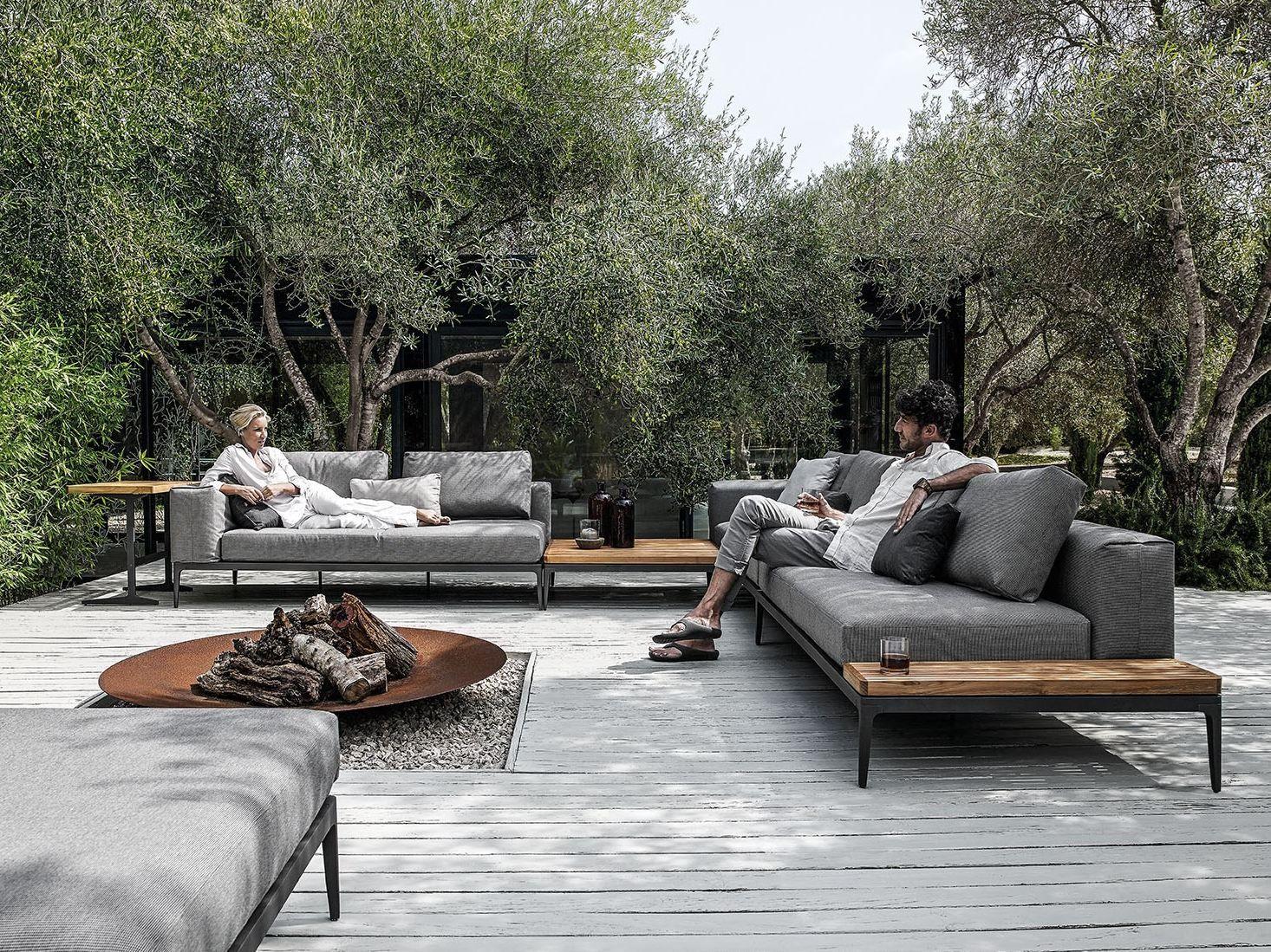 Outdoor Sofa Lounge Furniture 2er Bettsofa Gunstig Grid Collection By Gloster Design