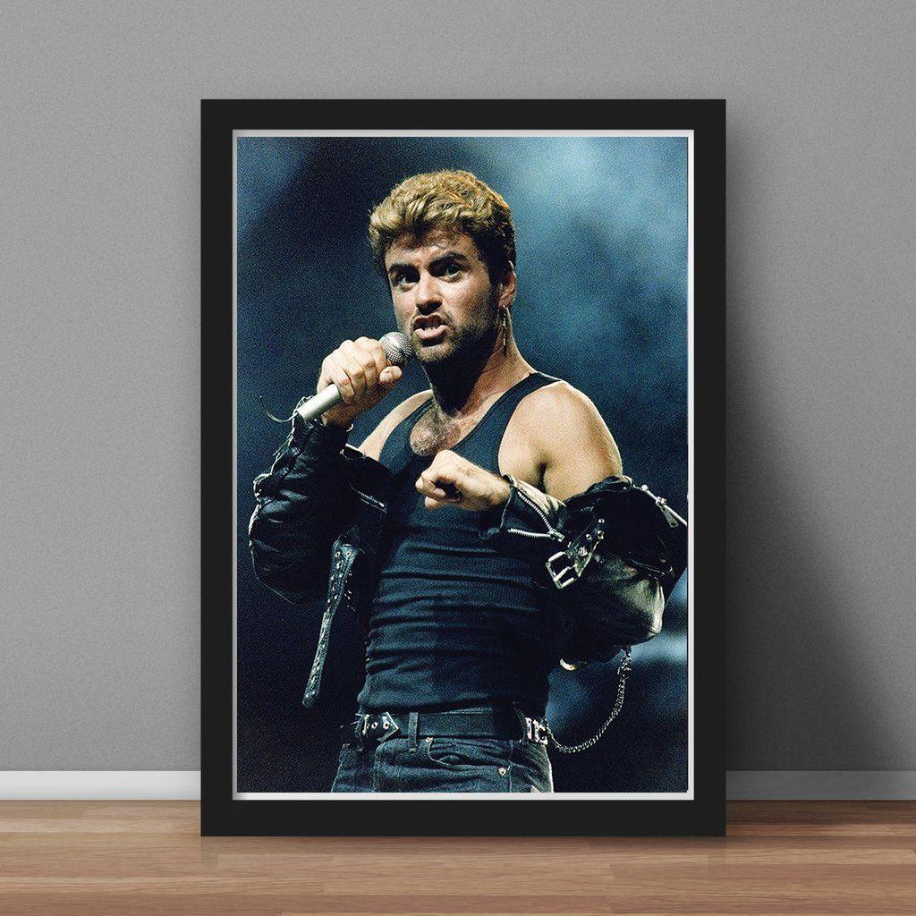 George Michael Print Black Frame George Michael George Michael Wham George Michel