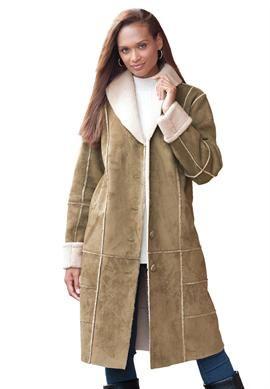 12b534ddf772d Faux Shearling Long Coat