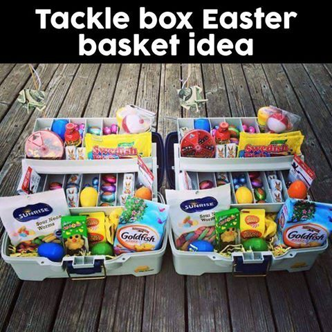 Tackle box easter basket idea easter fun pinterest tackle tackle box easter basket idea negle Images