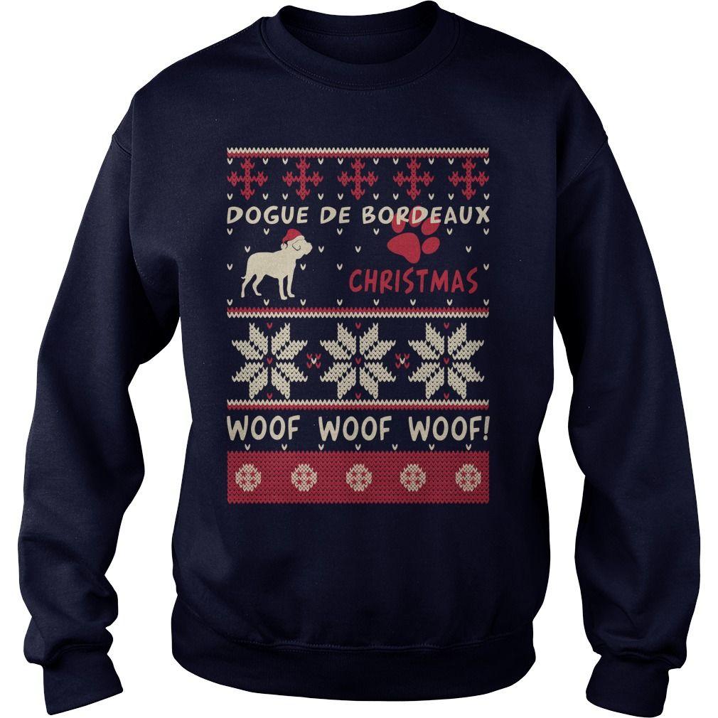 Dogue de Bordeaux Christmas Woof