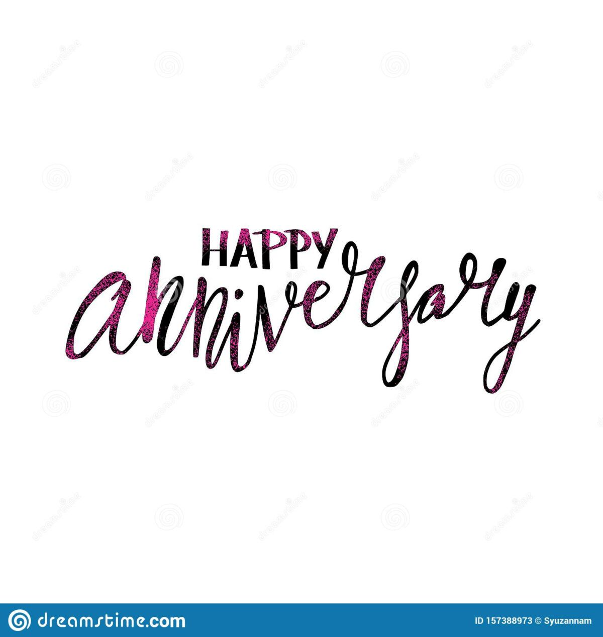 Happy Anniversary Text Vector Word With Decor Stock Vector Pertaining To Anniversary Card Template Word Vector Words Happy Anniversary Anniversary Cards