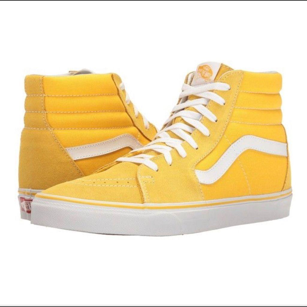 Yellow vans, Yellow shoes