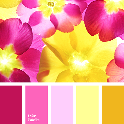 Bright magenta color combination for summer dark yellow Good color combination for pink