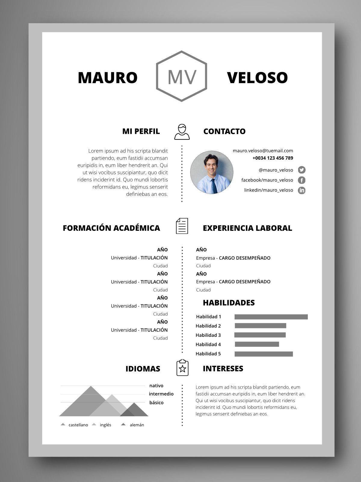 Como Hacer Un Resume De Trabajo Lovely Currculum Berl N Portafolio Resume Words Resume Design Creative Resume Design