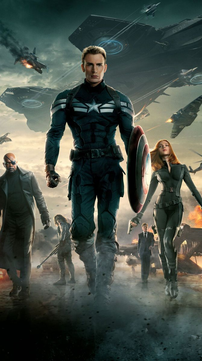 Captain America The Winter Soldier (2014) Phone Wallpaper