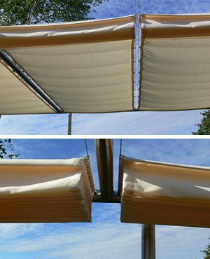 bewegliches sonnensegel f r die terrasse garten. Black Bedroom Furniture Sets. Home Design Ideas