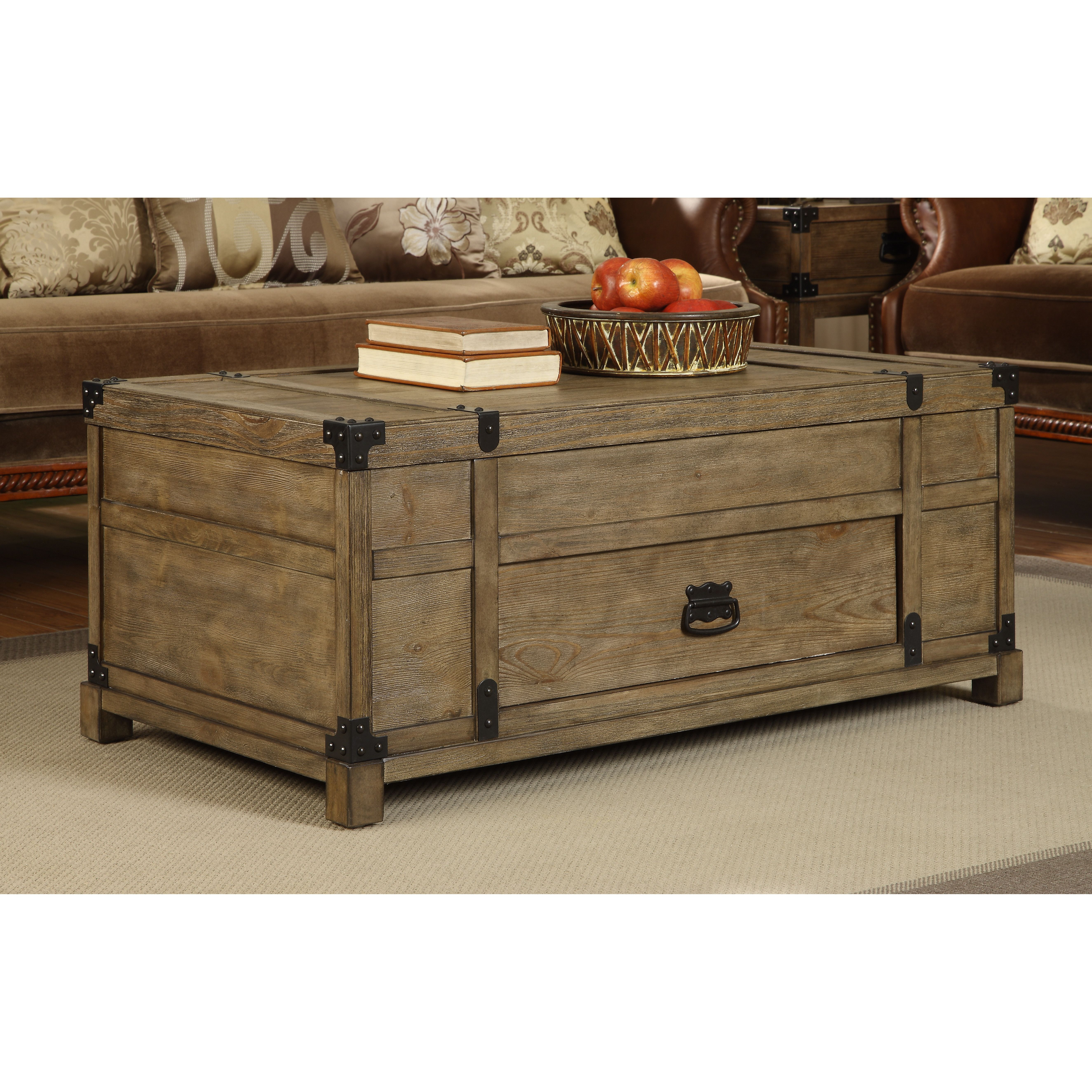 Features Lift Top 1 Drawer Distressed Yes Product Type Coffee Table Trunks Material Wo Coffee Table Lift Top Coffee Table Wood Cocktail Table [ 5298 x 5298 Pixel ]