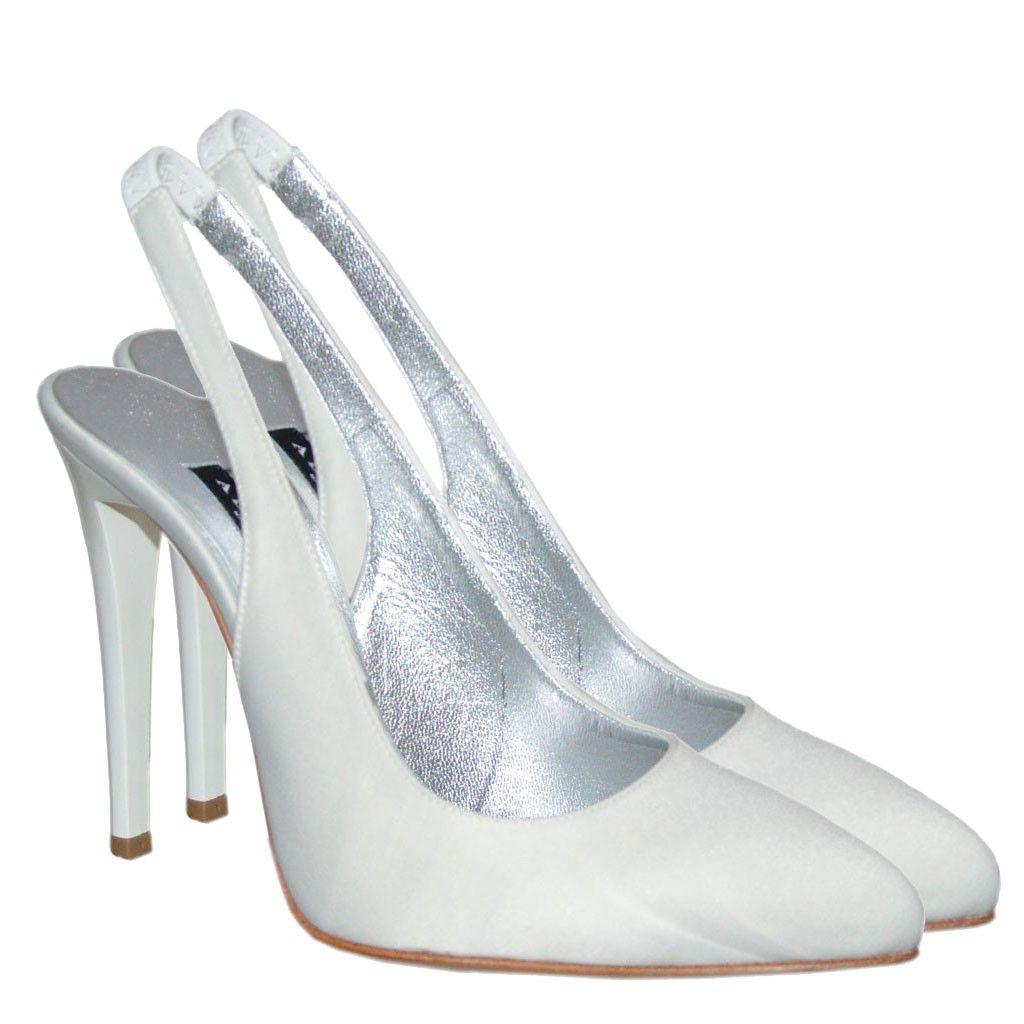 Scarpe Modello Chanel Sposa.Albano Sposa Decollete Con Immagini Scarpe Da Sposa Scarpe