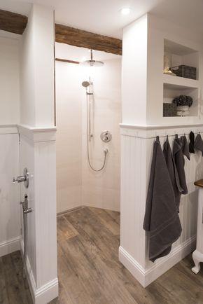 Beadboard De Wandpaneele Duschverkleidung Holzverkleidung Fachwerkhaus Wandverkleidung Badezimmer Landhaus Badezimmer Badezimmer Dachgeschoss