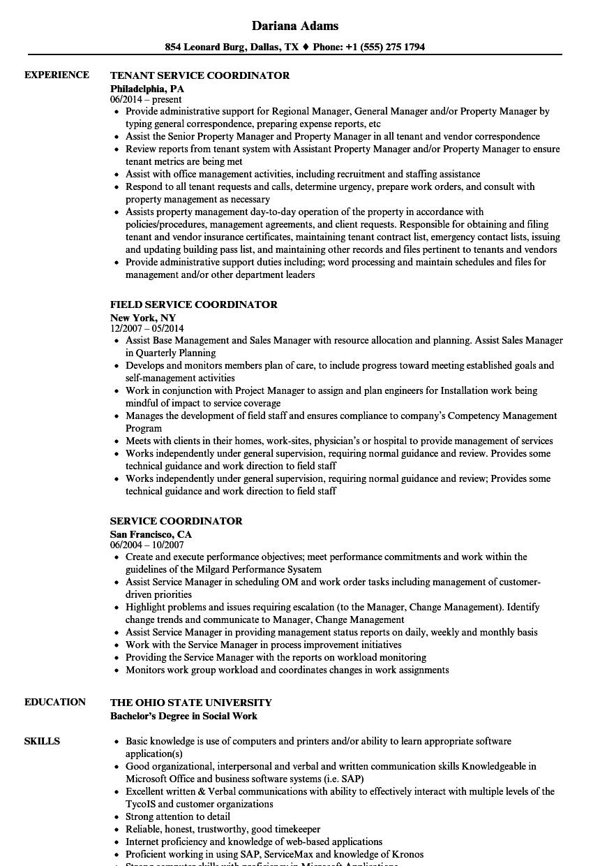Service Coordinator Resume Samples Resume Examples Business Analyst Resume Engineering Resume