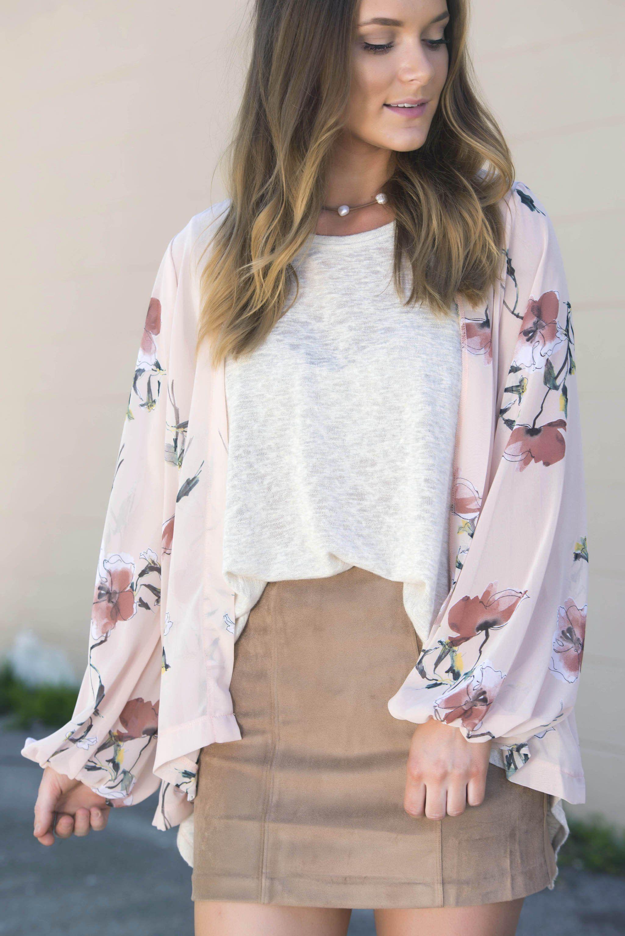 Blush Floral Chiffon Cardigan | Products | Pinterest | Chiffon ...